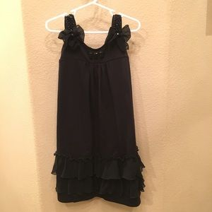 BISCOTTI Girls Black Dress W/ Embellishments Sz 7